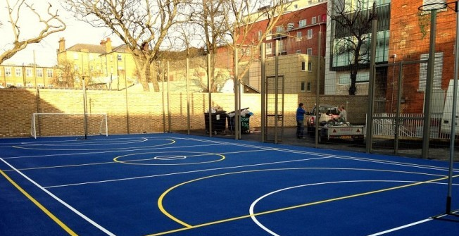 Sports Court Colour Coating in Alderwasley